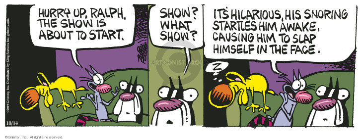 Cartoonist Mike Peters  Mother Goose and Grimm 2019-10-14 Ralph