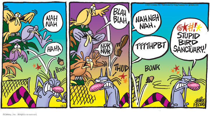 Cartoonist Mike Peters  Mother Goose and Grimm 2019-11-03 thud
