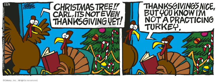 Cartoonist Mike Peters  Mother Goose and Grimm 2019-11-08 Thanksgiving