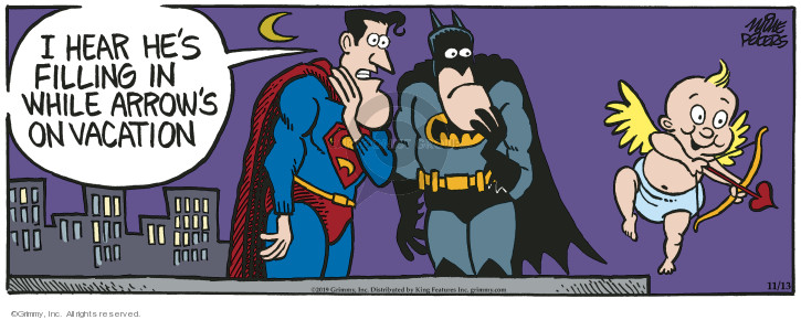 Comic Strip Mike Peters  Mother Goose and Grimm 2019-11-13 superhero