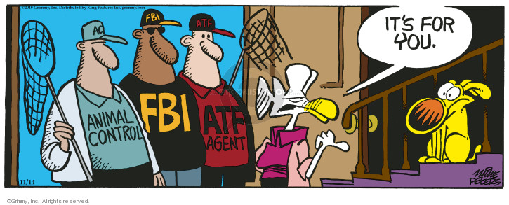 Cartoonist Mike Peters  Mother Goose and Grimm 2019-11-14 FBI