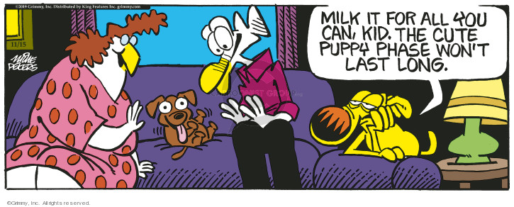 Cartoonist Mike Peters  Mother Goose and Grimm 2019-11-15 long