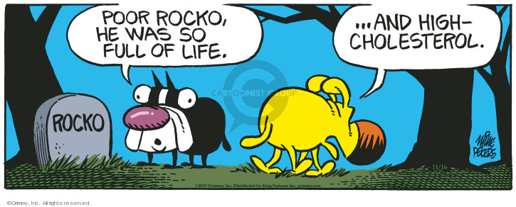 Comic Strip Mike Peters  Mother Goose and Grimm 2019-11-16 life