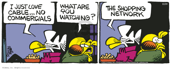 Comic Strip Mike Peters  Mother Goose and Grimm 2019-11-19 television cartoon