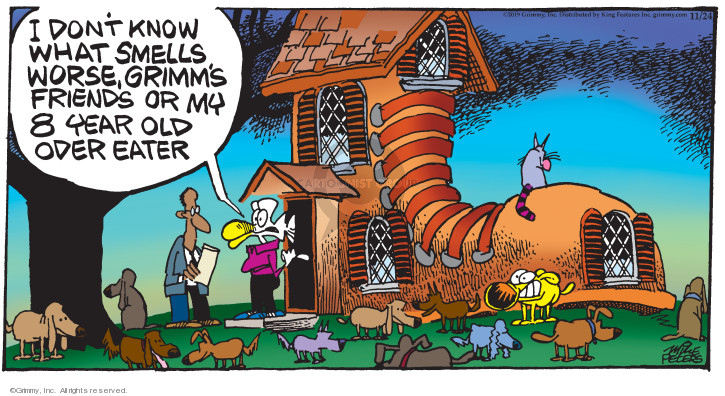 Comic Strip Mike Peters  Mother Goose and Grimm 2019-11-24 friend