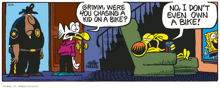 Comic Strip Mike Peters  Mother Goose and Grimm 2019-11-30 chase