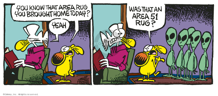 Comic Strip Mike Peters  Mother Goose and Grimm 2019-12-04 rug