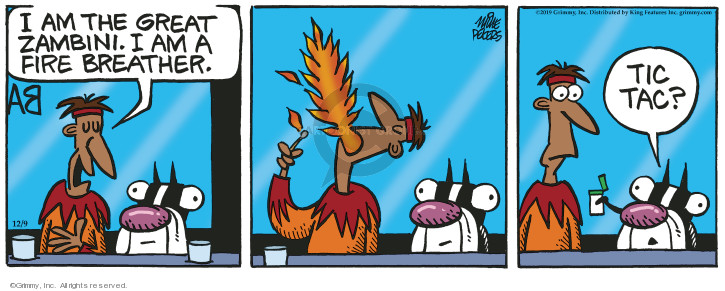 Cartoonist Mike Peters  Mother Goose and Grimm 2019-12-09 goose
