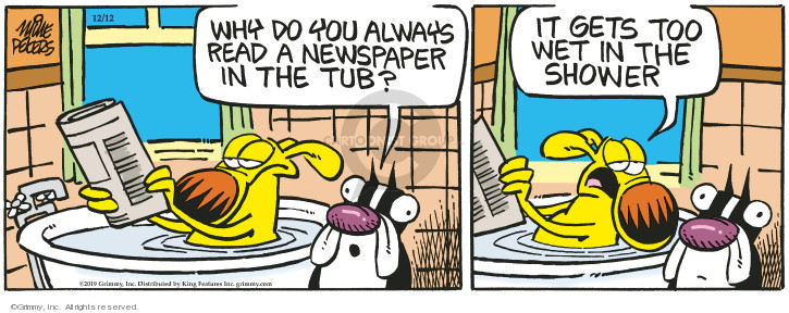 Cartoonist Mike Peters  Mother Goose and Grimm 2019-12-12 goose