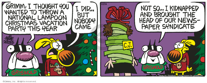 Comic Strip Mike Peters  Mother Goose and Grimm 2019-12-24 head