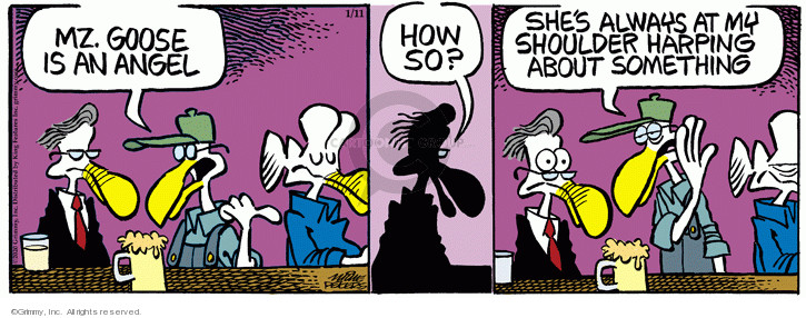 Comic Strip Mike Peters  Mother Goose and Grimm 2020-01-11 angel