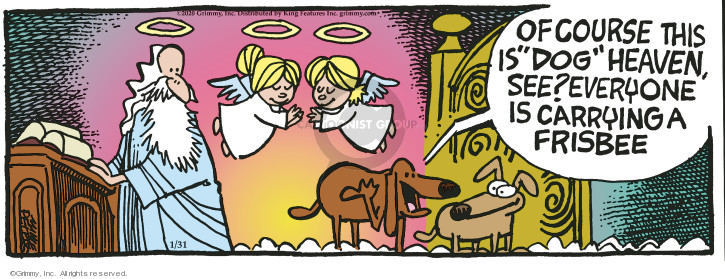 Comic Strip Mike Peters  Mother Goose and Grimm 2020-01-31 angel