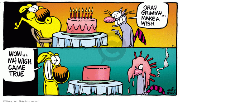 Comic Strip Mike Peters  Mother Goose and Grimm 2020-02-16 birthday