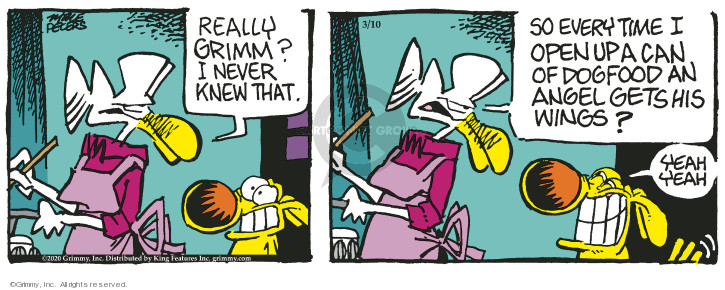 Cartoonist Mike Peters  Mother Goose and Grimm 2020-03-10 yeah