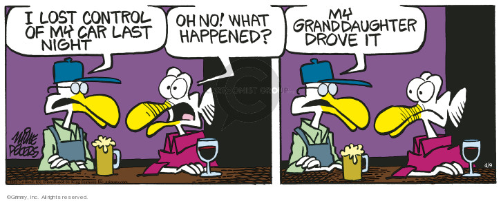 Comic Strip Mike Peters  Mother Goose and Grimm 2020-04-09 happen
