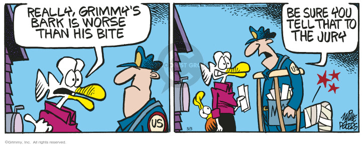 Cartoonist Mike Peters  Mother Goose and Grimm 2020-05-05 bark