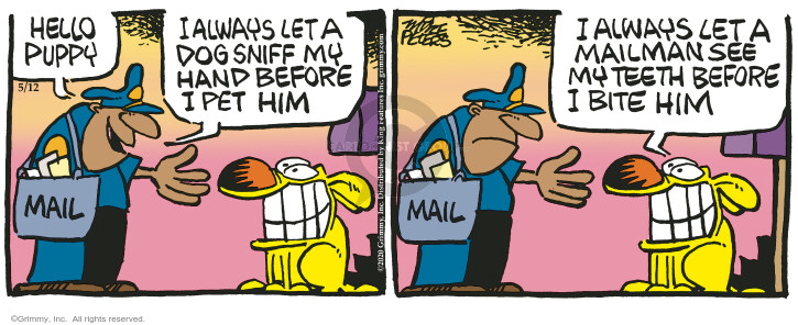 Comic Strip Mike Peters  Mother Goose and Grimm 2020-05-12 smile
