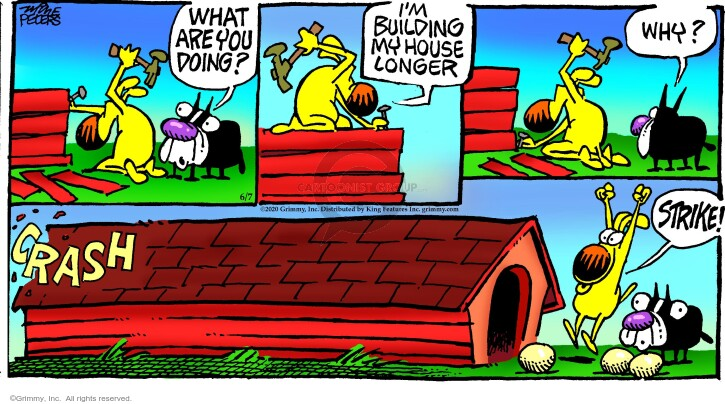 Cartoonist Mike Peters  Mother Goose and Grimm 2020-06-07 house