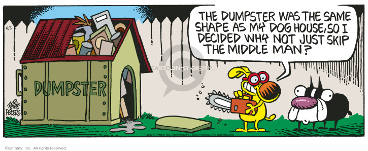 Cartoonist Mike Peters  Mother Goose and Grimm 2020-06-05 house