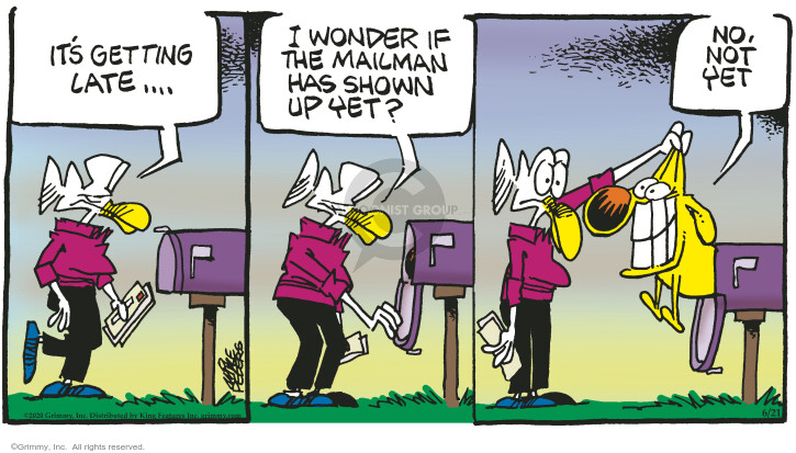 Comic Strip Mike Peters  Mother Goose and Grimm 2020-06-21 carrier
