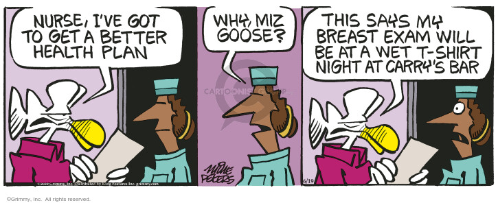 Cartoonist Mike Peters  Mother Goose and Grimm 2020-06-19 Grimm