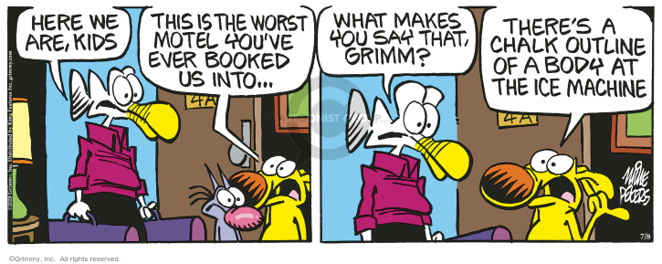 Comic Strip Mike Peters  Mother Goose and Grimm 2020-07-08 hotel