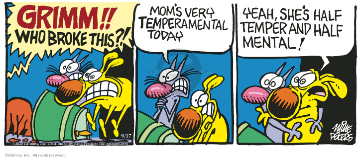 Comic Strip Mike Peters  Mother Goose and Grimm 2020-09-17 yeah