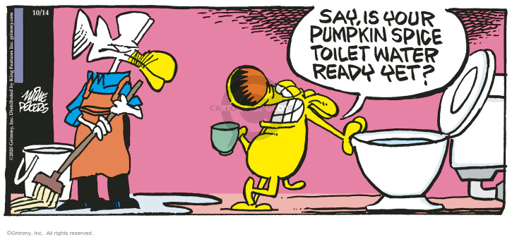 Comic Strip Mike Peters  Mother Goose and Grimm 2020-10-14 drinking water
