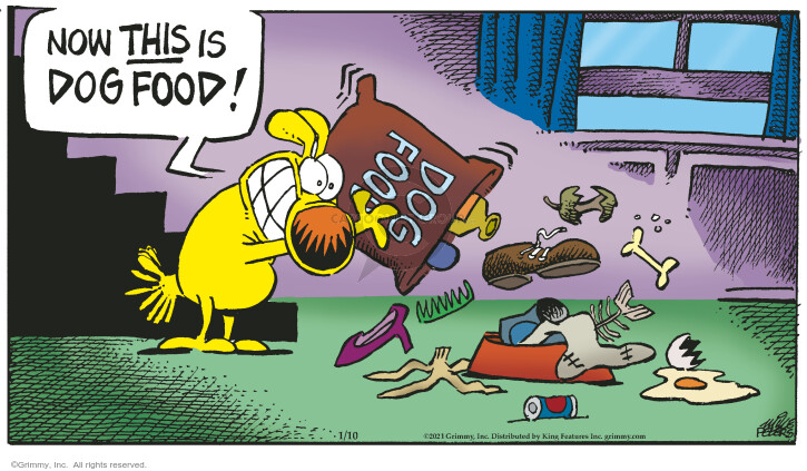 Comic Strip Mike Peters  Mother Goose and Grimm 2020-01-10 food waste