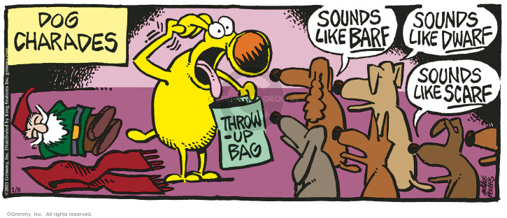 Comic Strip Mike Peters  Mother Goose and Grimm 2021-01-08 dog