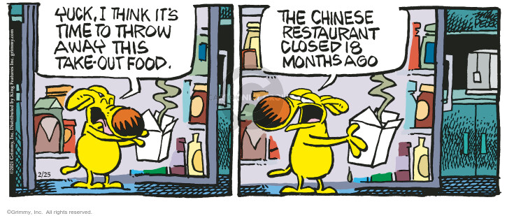 Comic Strip Mike Peters  Mother Goose and Grimm 2021-02-25 food waste