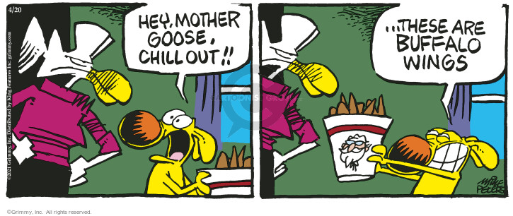 Comic Strip Mike Peters  Mother Goose and Grimm 2021-04-20 hey
