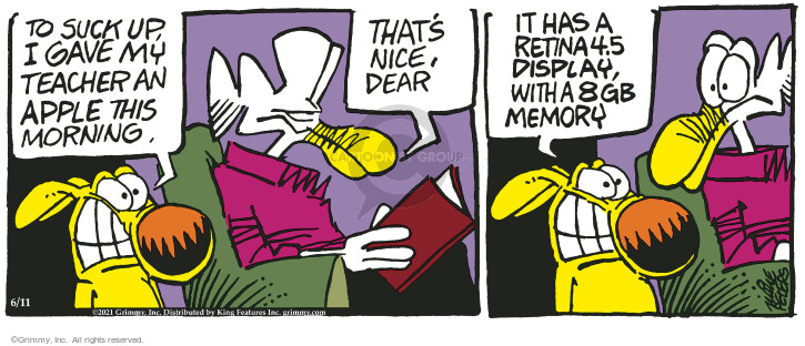 Comic Strip Mike Peters  Mother Goose and Grimm 2021-06-11 memory