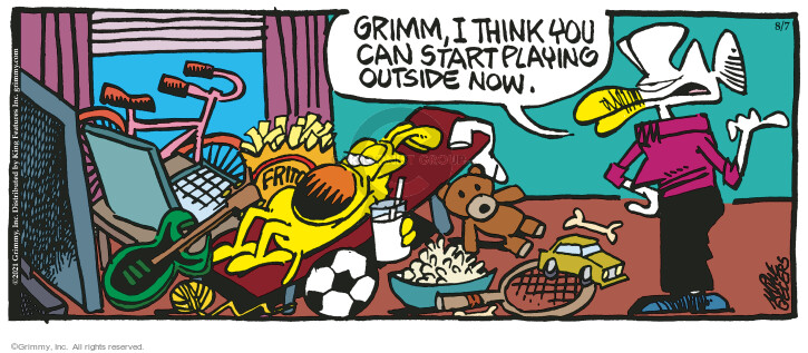 Comic Strip Mike Peters  Mother Goose and Grimm 2021-08-07 outdoors