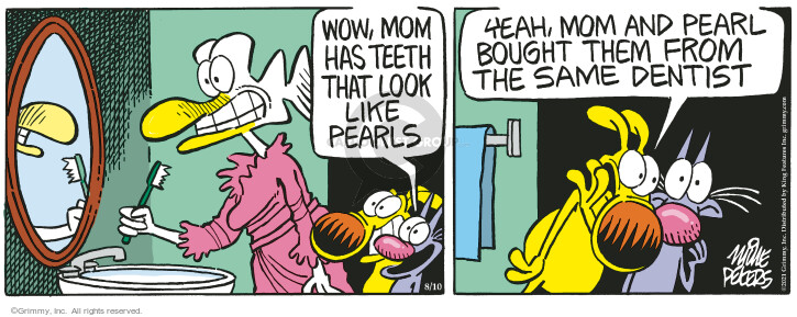 Comic Strip Mike Peters  Mother Goose and Grimm 2021-08-10 mom