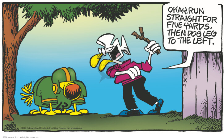 Comic Strip Mike Peters  Mother Goose and Grimm 2021-09-12 left
