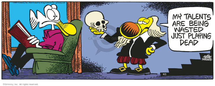 Comic Strip Mike Peters  Mother Goose and Grimm 2021-09-02 trick