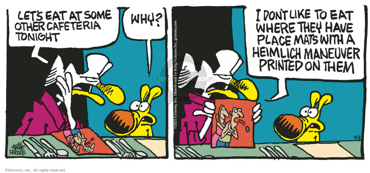 Comic Strip Mike Peters  Mother Goose and Grimm 2021-09-04 don't