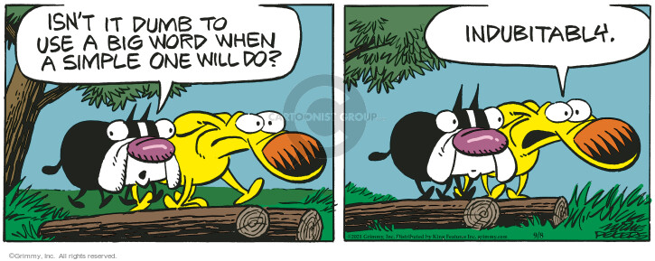 Comic Strip Mike Peters  Mother Goose and Grimm 2021-09-08 word