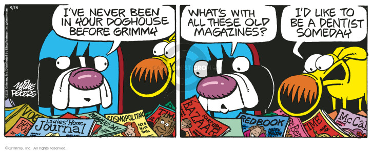 Comic Strip Mike Peters  Mother Goose and Grimm 2021-09-18 all
