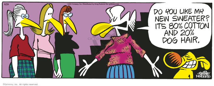 Comic Strip Mike Peters  Mother Goose and Grimm 2021-09-29 clothes