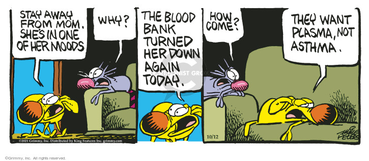 Comic Strip Mike Peters  Mother Goose and Grimm 2021-10-12 want