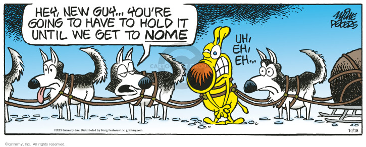 Comic Strip Mike Peters  Mother Goose and Grimm 2021-10-18 mother