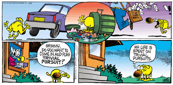 Comic Strip Mike Peters  Mother Goose and Grimm 2003-01-12 pursuit