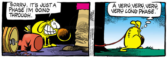 Comic Strip Mike Peters  Mother Goose and Grimm 2003-01-18 punish