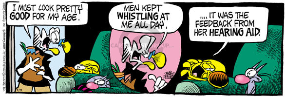 Cartoonist Mike Peters  Mother Goose and Grimm 2003-01-21 aging