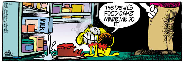 Comic Strip Mike Peters  Mother Goose and Grimm 2003-01-23 devilish