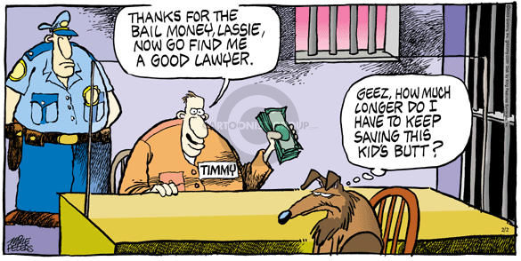 Cartoonist Mike Peters  Mother Goose and Grimm 2003-02-02 rescue dog
