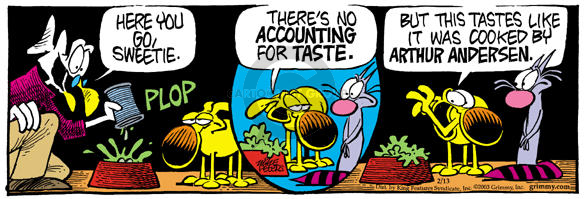 Comic Strip Mike Peters  Mother Goose and Grimm 2003-02-13 accounting