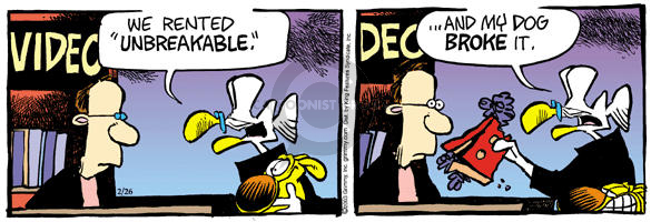 Comic Strip Mike Peters  Mother Goose and Grimm 2003-02-26 destruction
